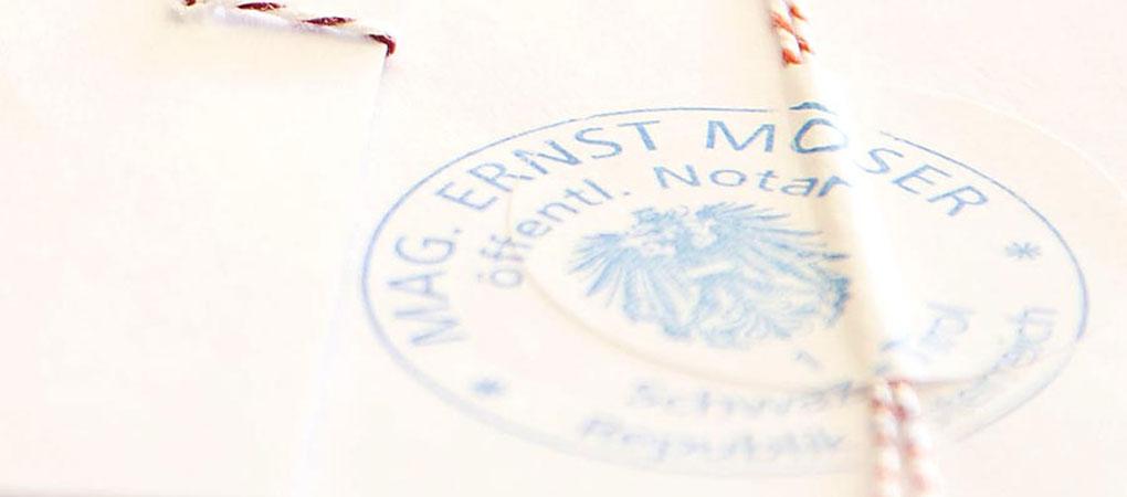 Beurkundung   Notar Schwaz   Ernst Moser